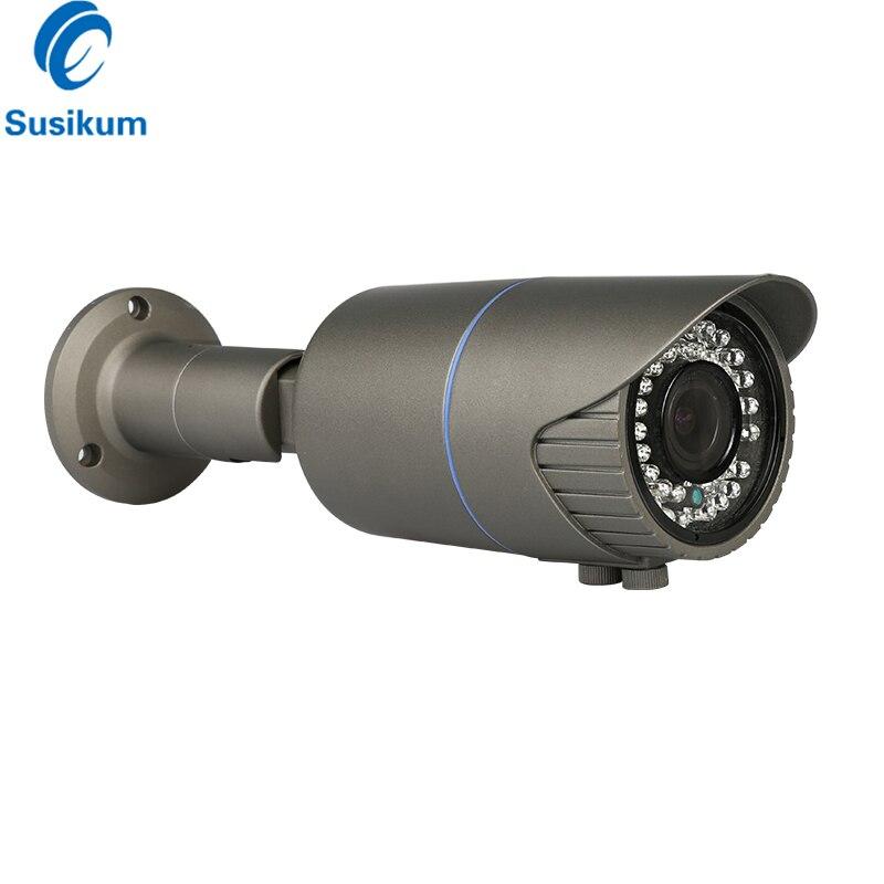 4MP 2.8-12mm Zoom manuel caméra varifocale Distance IR 40M infrarouge étanche sécurité extérieure CCTV caméra balle avec OSD