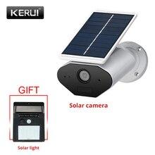 KERUI L4 Cámara Solar de seguridad, cámara IP inalámbrica alimentada al aire libre, wifi, impermeable, 1.3MP HD IR visión nocturna, energía Solar de la batería