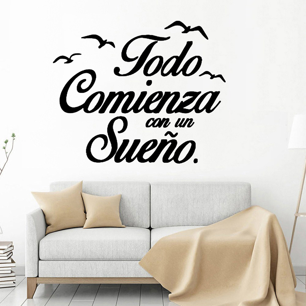 Creativity Spanish Wall Stickers Birds Bedroom Wall Decals Vinyl