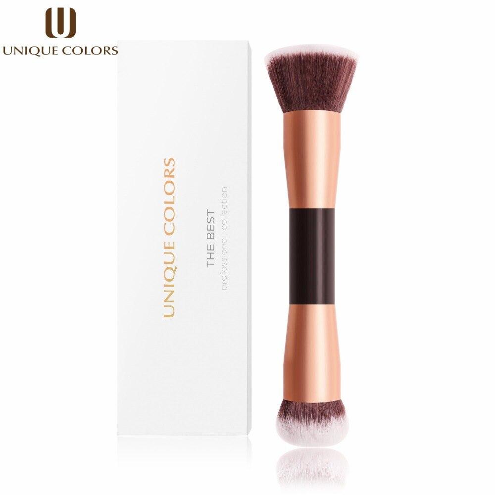 Unique Colors 1pcs Makeup Brushes Wood Handle Double Head