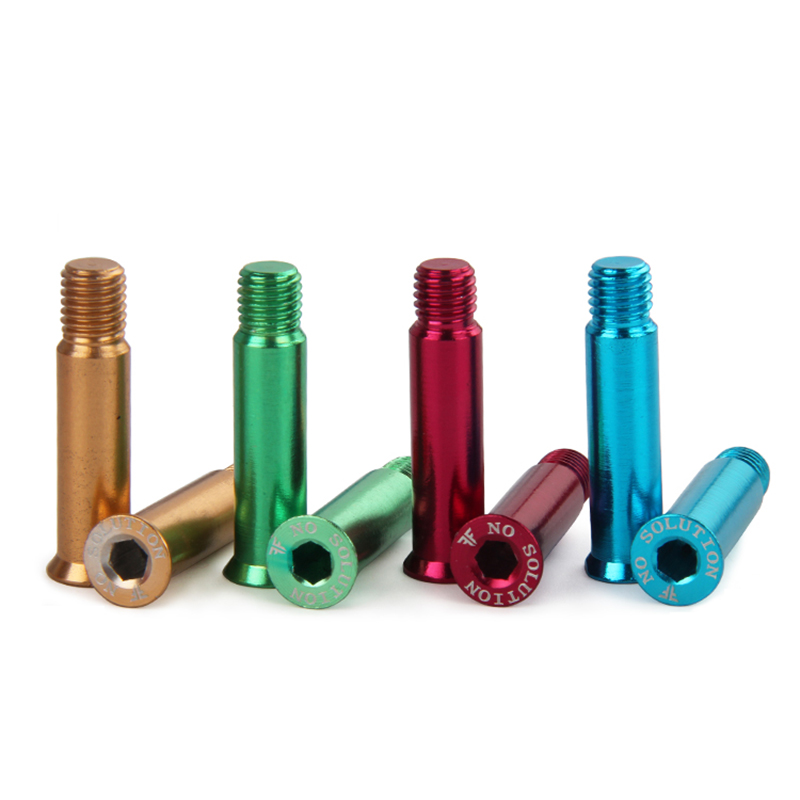 Free Shipping Roller Skates Accessories Colorful Axles Screws AL Axle 8 Pcs / Lot
