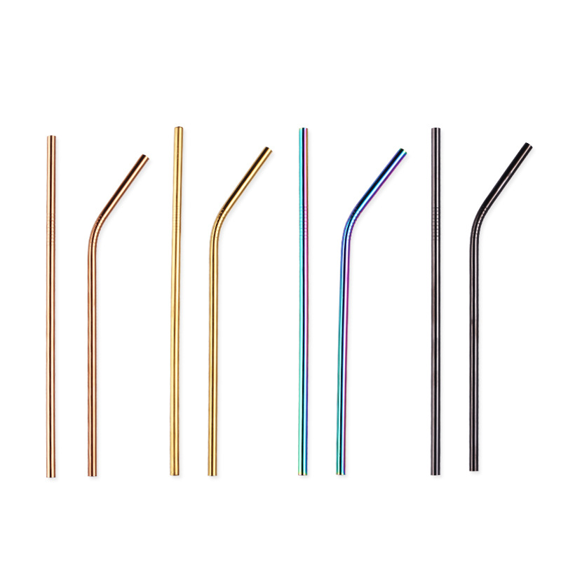 US $0 61 |Reusable Drinking Straw 304 Stainless Steel Metal Straw with  Cleaner Brush For Mugs 20oz Wholesale Custom logo 215mm 8mm 1pcs-in  Drinking