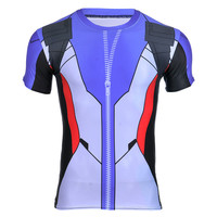 Game OW SOLDIER 76 Printed 3D T Shirt New Fitness Shirt For Men Bodybuilding Crossfit T