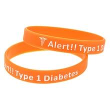 OBH цвет 1 шт. медицинский предупреждающий браслет тип 1 диабет Инсулин зависимый силиконовый браслет