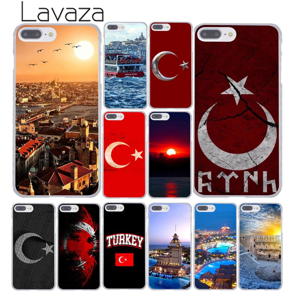 Lavaza Typography Flag of Turkey Istanbul Antalya mustafa Hard Phone Case for Apple iPhone 8 7 6 6S Plus X 10 5 5S SE 5C 4 4S