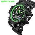 2016 nuevo reloj sanda hombres g estilo deportes impermeables relojes s-shock hombres analógico de cuarzo relojes digitales
