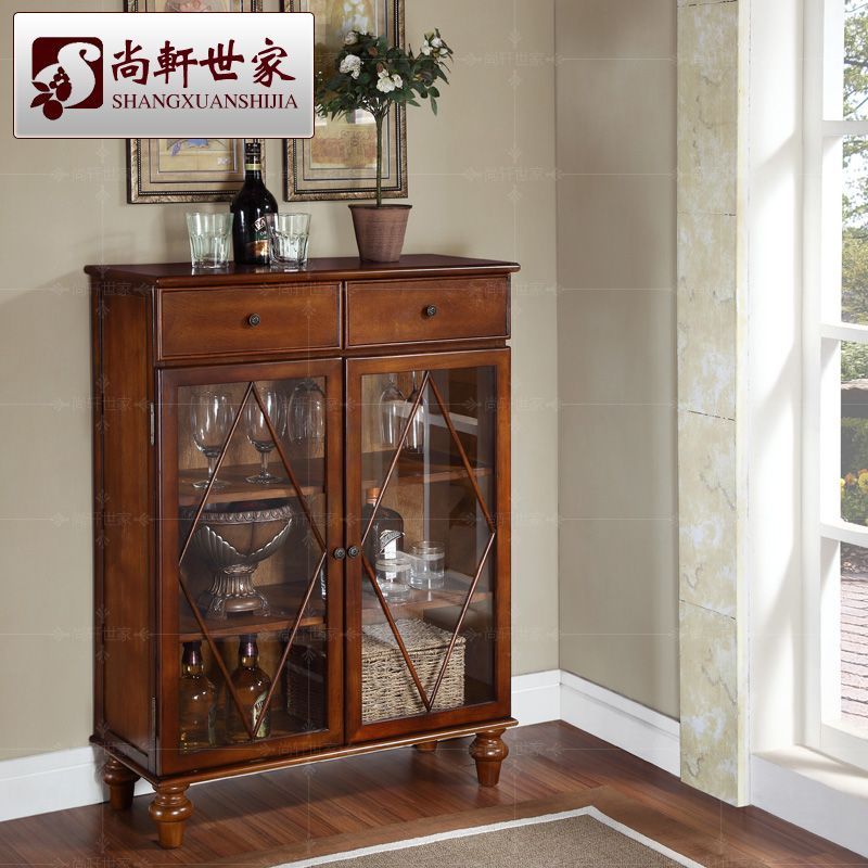 Fashion Small Wood Wine Cabinet Brief Lockers Console Cabinet Wine Glass Hr122 Shipping