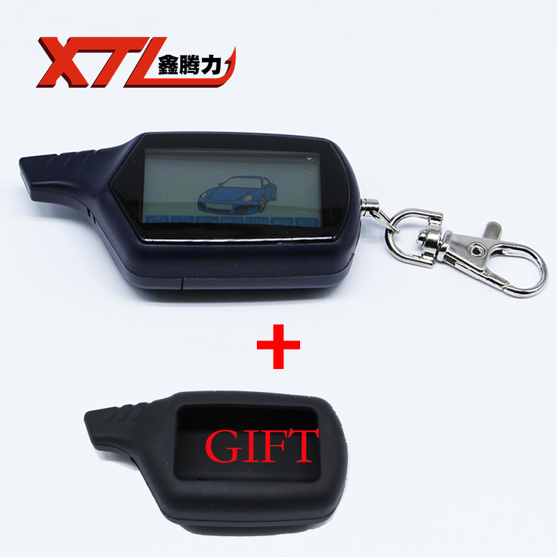 Hot sale keychain B9 car remote For starline B9 lcd Twage remote two way car alarm