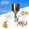 ZONESUN Manual máquina de llenado de pasta líquida máquina de llenado crema mermelada polaco Nial máquina de llenado 0-50 ml