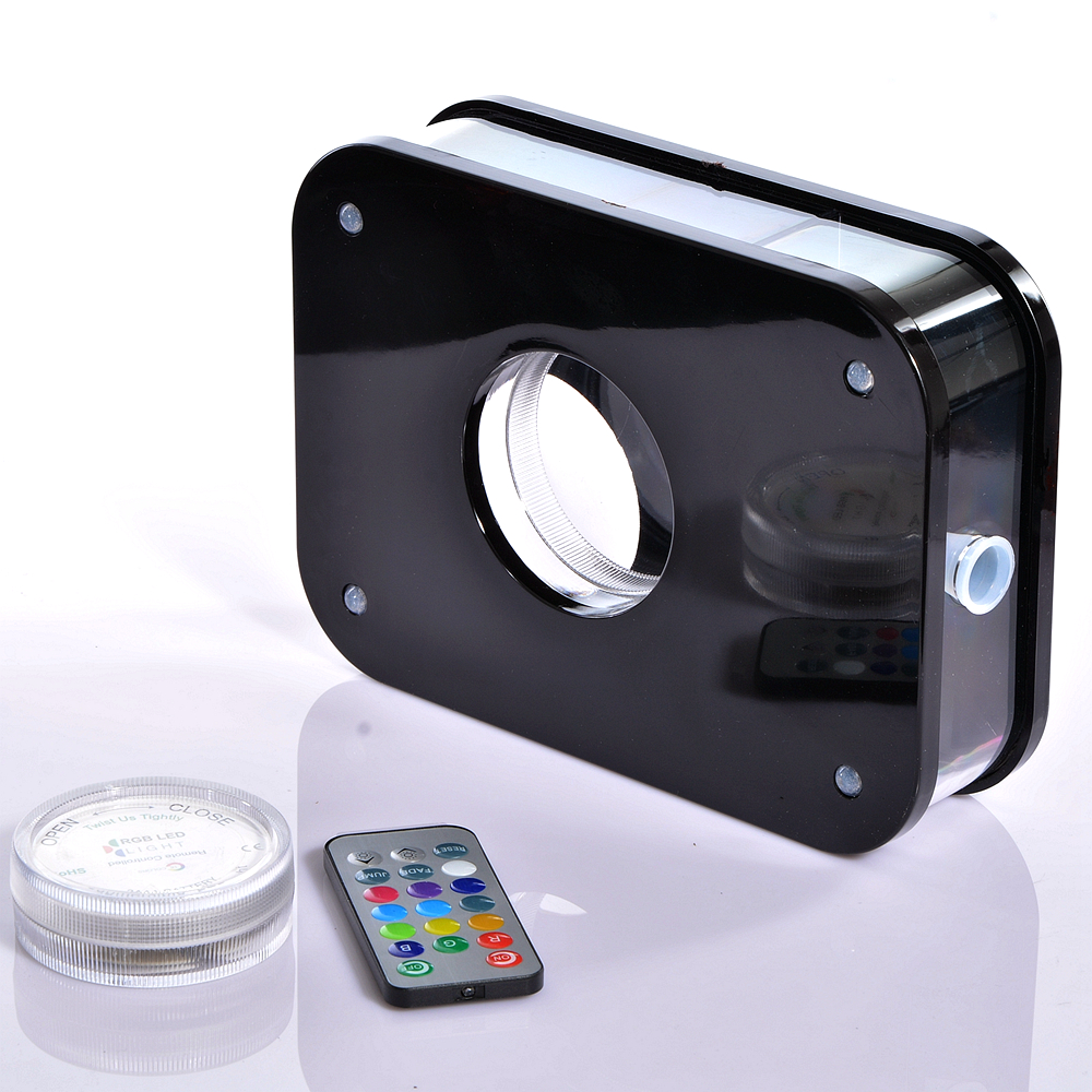 Schwarze Acryl Shisha Shisha mit LED-Licht Chicha Schüssel Schlauch - Haushaltswaren - Foto 5