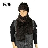 SCM033 Бесплатная доставка 100% натуральный норковый меховой шарф мужской норковый зимний теплый однотонный модный шарф