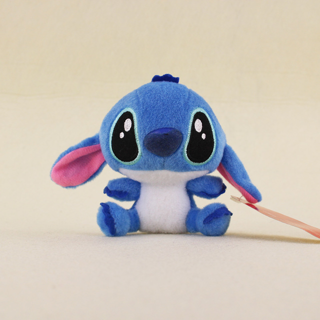 10cm Lilo And Stitch Super Cute Plush Keychain Pendant Toy Keyring Action Figures