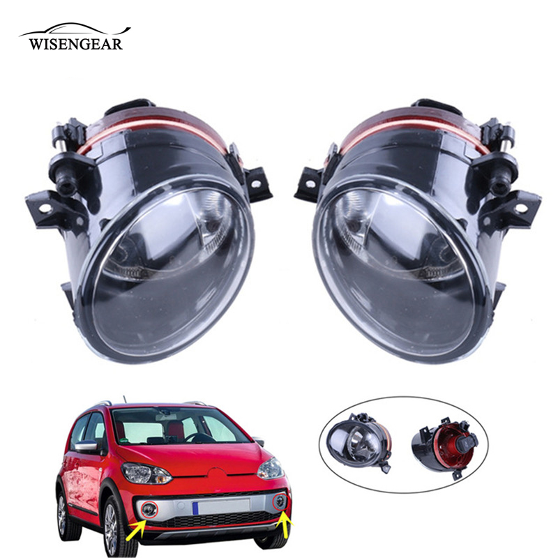 WISENGEAR Auto Fog Light Lamp Front Bumper Driving Light For VW Volkswagen Jetta 5 Golf 5 GTI MK5 12V 55W Foglight Accessories / auto led car bumper grille drl daytime running light driving fog lamp source bulb for vw volkswagen golf mk4 1997 2006 2pcs