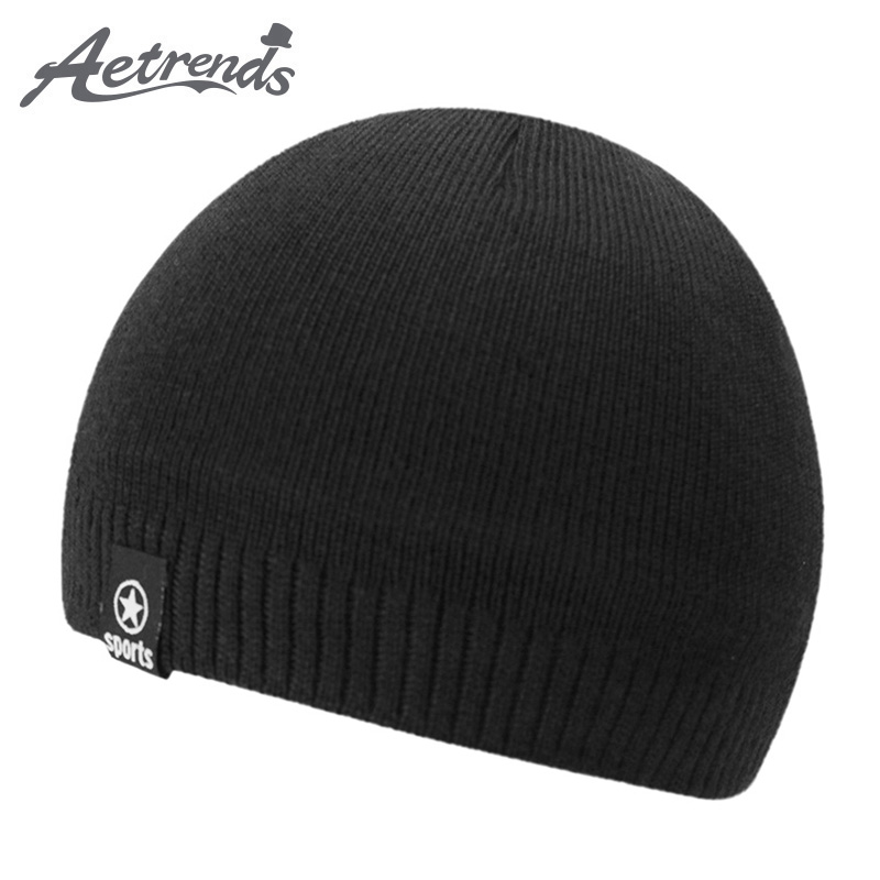 [AETRENDS] 2017 New Winter Beanie Hats for Women Men Warm with Velvet Inside Knitted Caps Beanies Z-5983 2016 new beautiful colorful ball warm winter beanies women caps casual sweet knitted hats for women outdoor travel free shipping