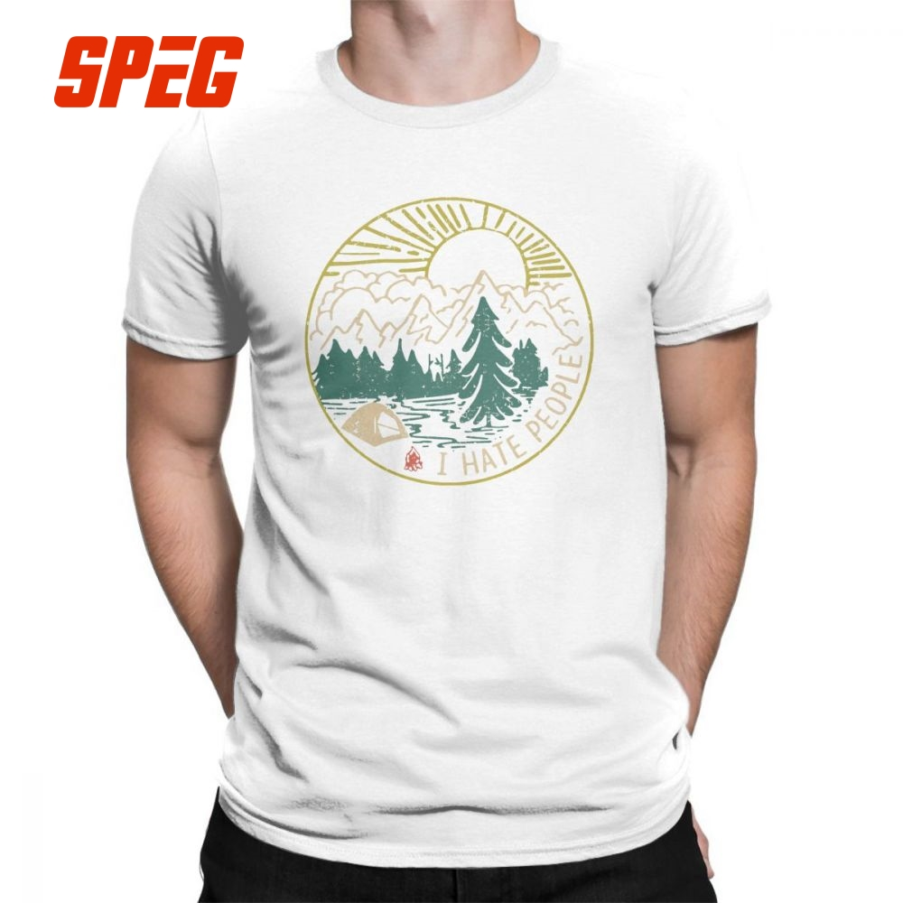 d3e6cdc4aa I Hate People Camping Hiking 2018 Fashion T Shirt for Men Short Sleeve Tops  Gift Tees