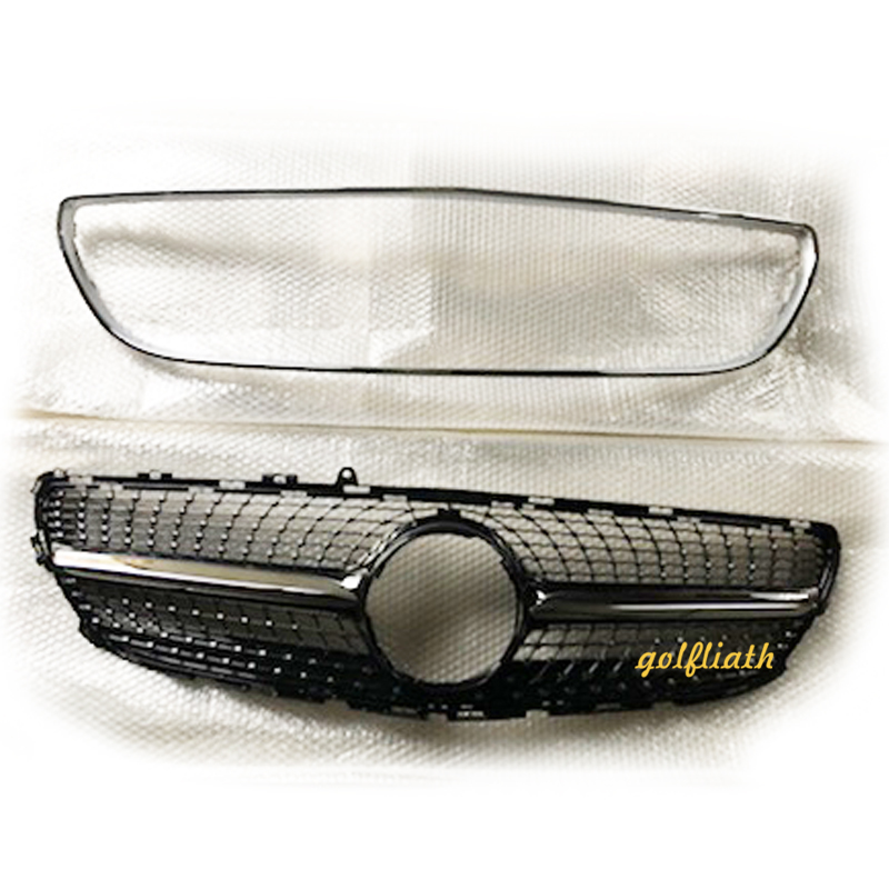 Diamond <font><b>Grill</b></font> For Mercedes Benz CLS Class <font><b>W218</b></font> Facelift Sedan Auto Front Grille 2015-2018 CLS300 CLS350 CLS450 CLS500 image