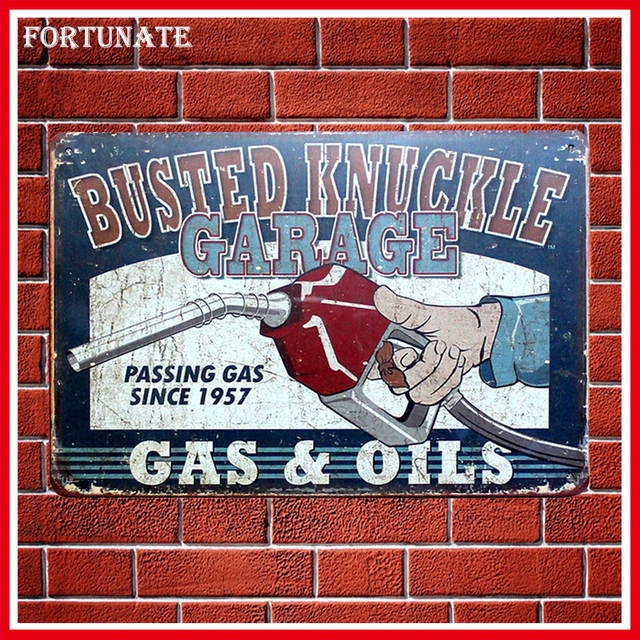 New Busted Knuckle Garage Vintage Metal Signs Home Decor Vintage Tin Signs  Pub Vintage Decorative Plates