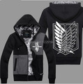 Attack On Titan Scout Regiment Levi Cosplay Costume Autum Winter Hoodie Fashion Hoodies Sweatshirts Coat Anime