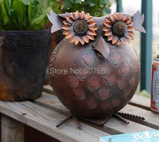 Garden Decorative Vintage Metal Iron Owl Antiques