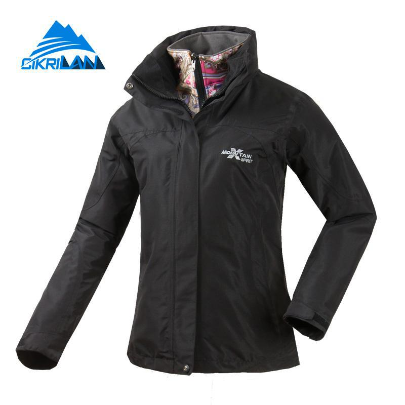 New 3in1 Winter Outdoor Snowboard Ski Jacket Women Windbreaker Water Resistant Coat Fishing Camping Climbing Jaqueta Feminina