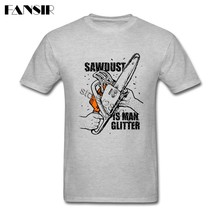 Personality Men T-shirts Sawdust is Man Glitter Woodworking Carpenter Short  Sleeve Cotton O- 064eba9ce8ab
