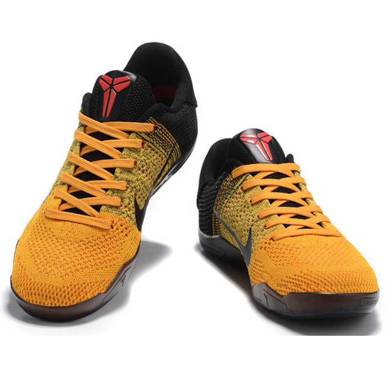cheap for discount ddce6 88aad ... Breathable Nike Kobe 11 Elite Low Bruce Lee Men's Basketball Shoes,  Yellow & Black, ...