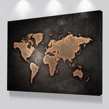 Modern Canvas Painting Worldmap Pictures Art Printed Dropshipping Poster Prints For Living Room Home Decor No Frame