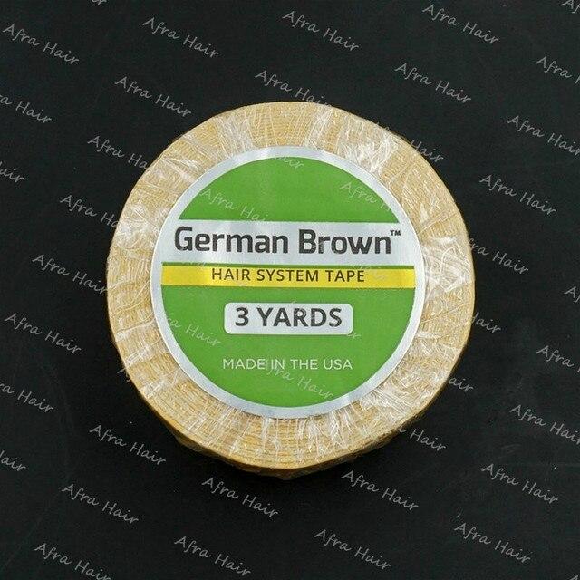 German Brown Hair System Tape 3 Yards Medikal Suporte Fita Adesiva Super Glue T035