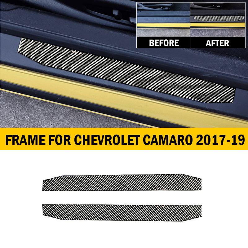 Carbon Black Rear Bumper Protector Decal Sticker Cover for CHEVROLET 16-18 Spark