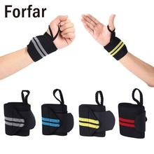 1 pcs Forfar Hand Wraps Wrist Strap Cross fit Powerlifting Bodybuilding Support Weight Lifting Sport Wristbands Hand Bands cheap Weight Lifting Glove