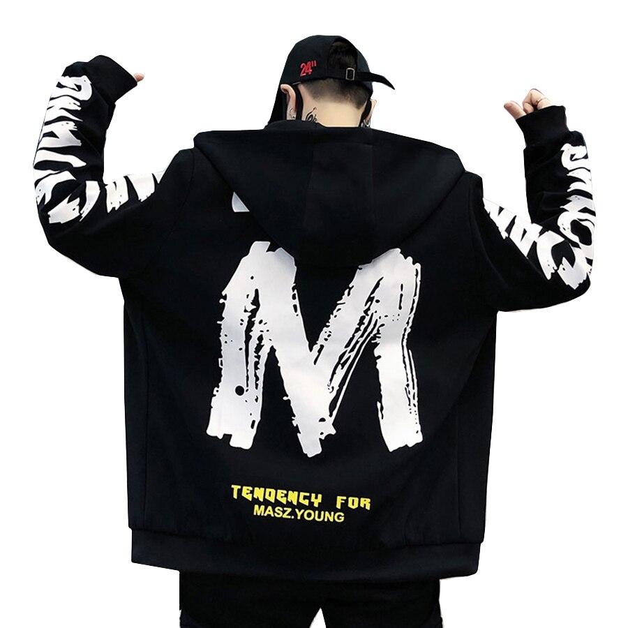 6f2487b1c8ed Chaqueta con capucha estilo coreano de Hip Hop para hombre con estampado de  moda Primavera otoño