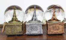 Hot selling Creative tower crystal ball music box creative birthday gift student girlfriend child qy603