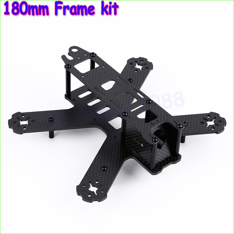 Wholesale 1pcs Mini 180mm All carbon fiber Frame for 180 QAV180 Mini Quadcopter Racing frame Crossing frame Aluminum Column