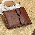 Hombres Carteras cortas, bolso Famoso Diseñador de la Marca 100% de Cuero superior Monederos Titulares Cerrojo Embrague Masculino Bolsillo dólar [pueden ser rastreados]