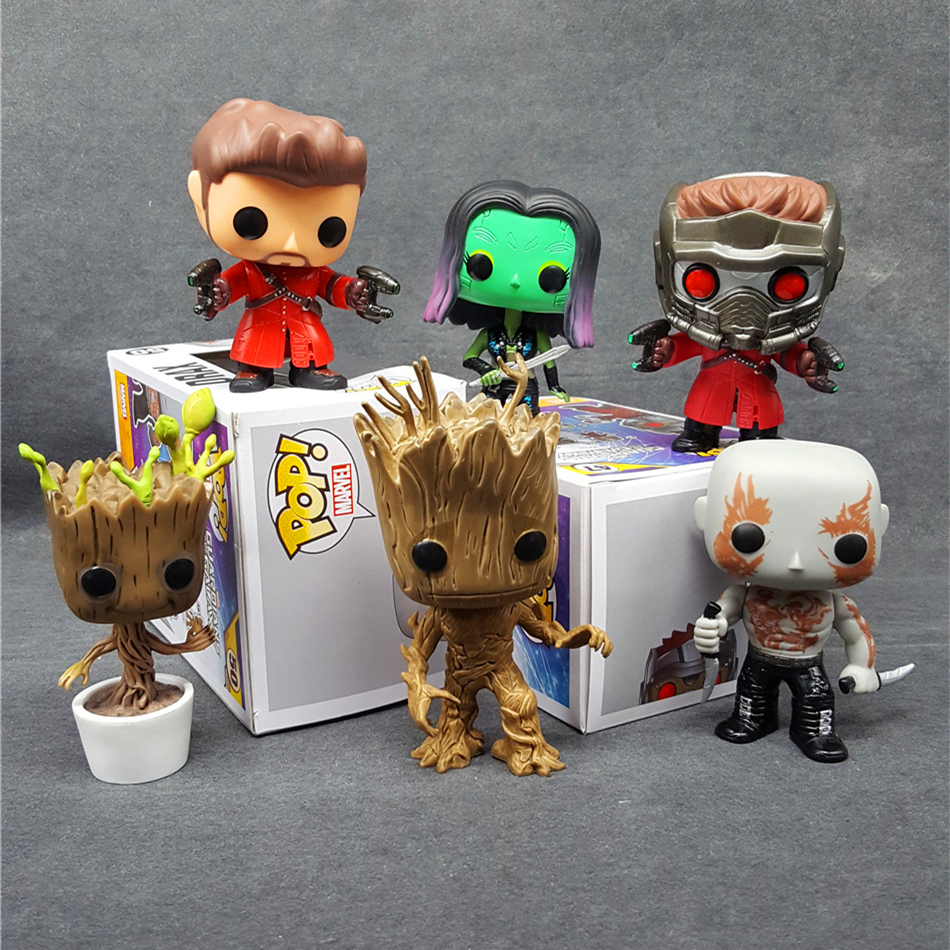 <font><b>FUNKO</b></font> POP 50 52 51 65 47 49 Marve <font><b>Guardians</b></font> <font><b>of</b></font> <font><b>the</b></font> <font><b>Galaxy</b></font> star lord gamora Drax PVC <font><b>Action</b></font> <font><b>Figure</b></font> Doll Collection Model