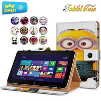 10.1'' Leather case For ASUS MeMO Pad FHD 10 ME301T ME302 Universal Cover, Minions Girl Printed Tablet Stand case Tablet Cover