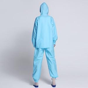 Image 5 - EVA Transparent Adult Rainwear Suit For Women And Men Outdoor Portable Split Rain Pants Raincoats Waterproof Female Raincoat