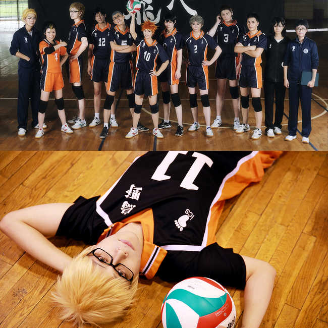 Haikyuu Cosplay Kostuum Anime Karasuno High School Club Hinata Shyouyou T-shirt Sportkleding Cosplay Uniform