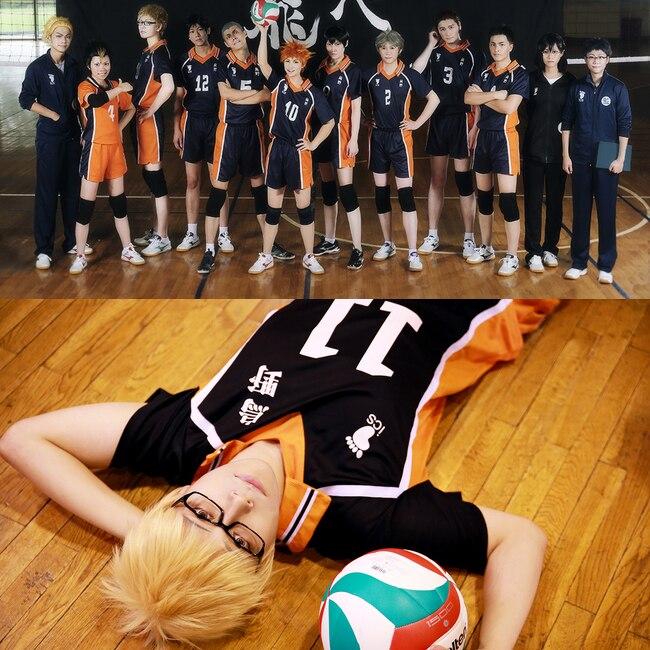 Anime Haikyuu Cosplay Uniforme Club de Volleyball du lyc/ée Hinata Shoyo Kageyama Tobio Costume Cosplay v/êtements de Sport