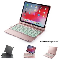 Case For iPad Pro 11 10.5 Air 10.5 2019 7 Color Backlit 360 Rotatio Wireless Bluetooth Keyboard Cover For iPad 2018 2017 9.7inch