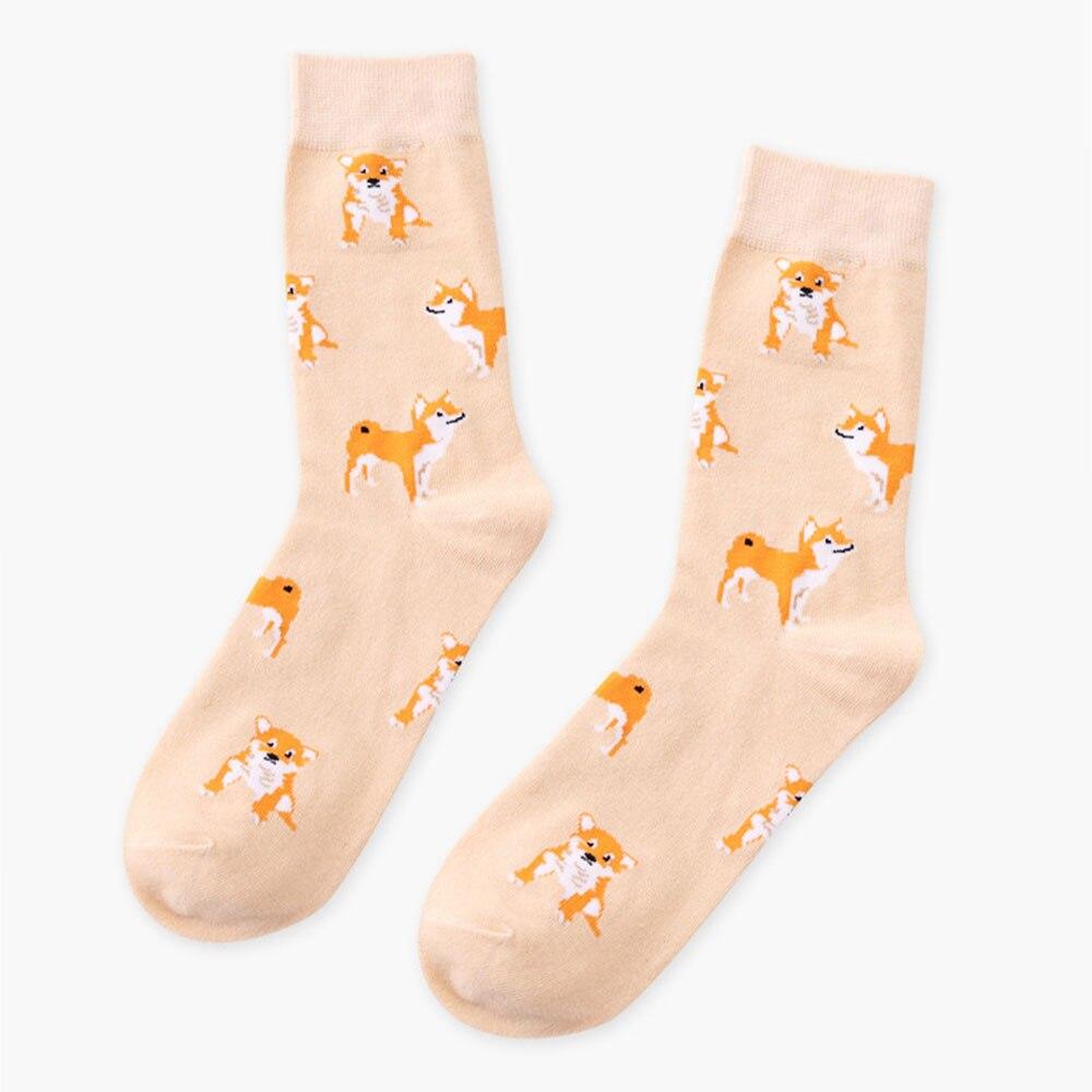 Women's Socks & Hosiery Brand New Women Cute Pet Kawaii Lovely Female Girls Funny Shiba Inu Cat Dog Corgi Lovely Animal Pattern Casual Sock