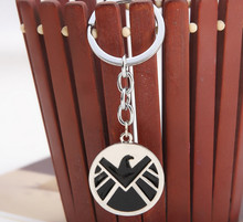 Avengers Aegis Board Logo Keychain Marvel Pendant Metal Key Ring Jewelry  Key Chain Shield Key Chain Shield Badge, Key Chain