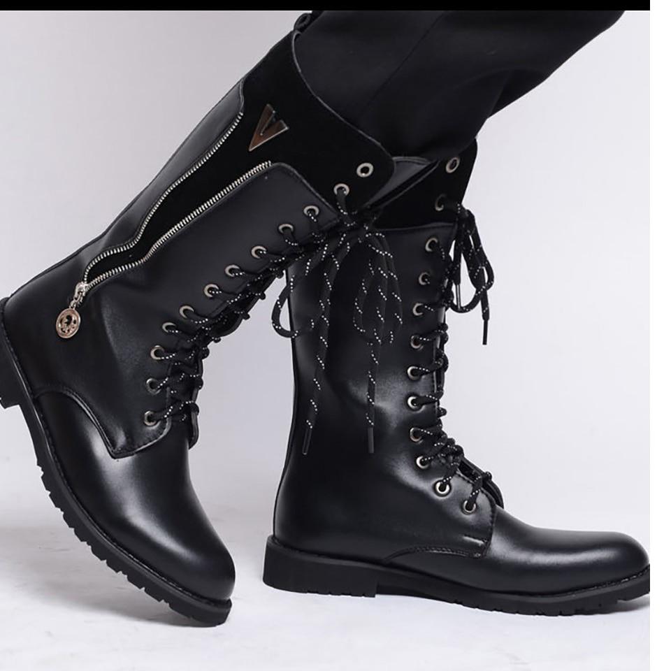 Preto black Mxz8309119 Tático Para Não Couro Homens Velvet oposição Inverno escorregar De Desgaste Mountain Botas Militares Plus 7q6RTO