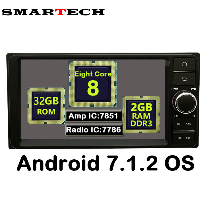 SMARTECH 8Core 2Din Android 7 1 2 For Universal Toyota Hilux Old Camry Corolla Vios font