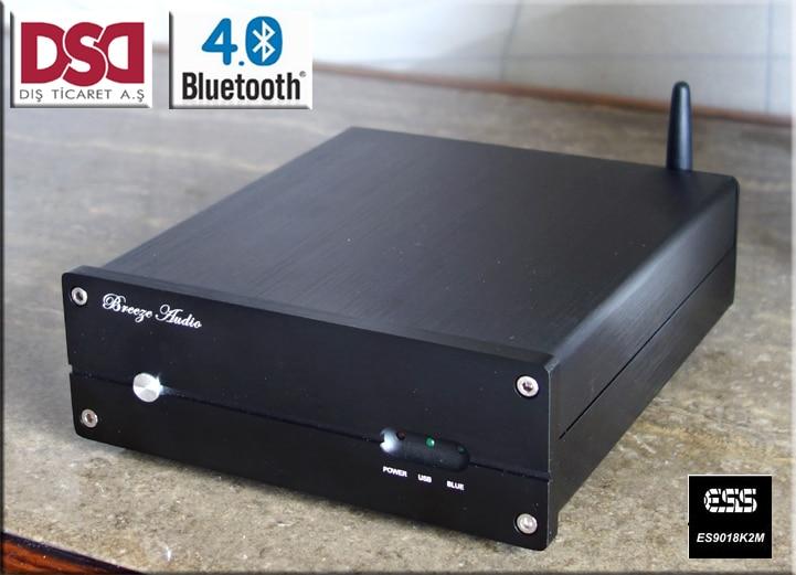 LY-JSQ1 Bluetooth 4.0 turntable Computer USB audio decoder ES9018K2M DAC XMOS PCM2706 support DSD xmos