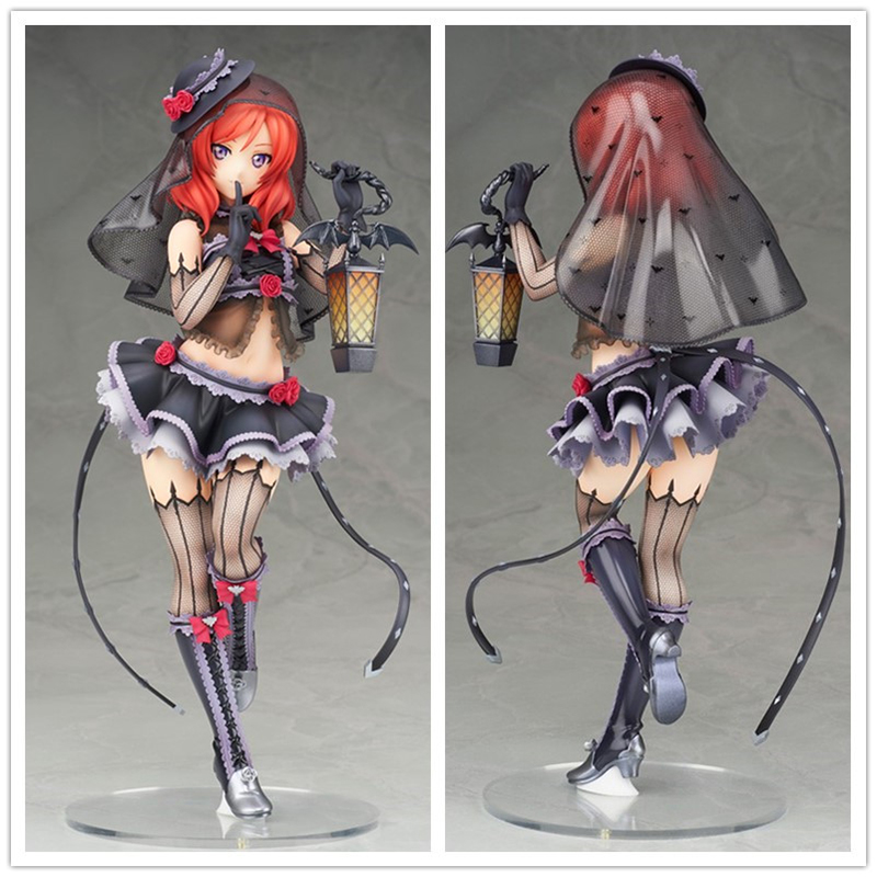 Love Live! School Idol Project Figure Maki Nishikino Action Figures in Sexy Witch Costume Toys 23cm free shipping japanese animation love live nishikino maki 23cm 1 7 scale pre painted figure no box