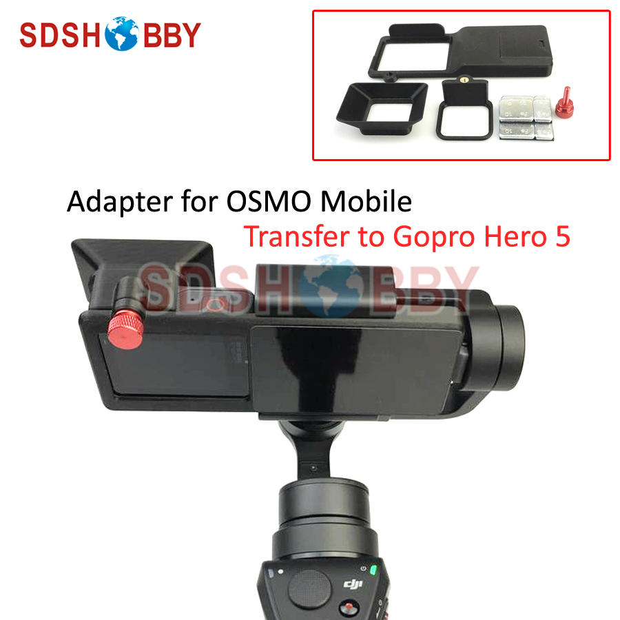 Adapter Switch Mount Plate For DJI OSMO Mobile Gimbal Camera And GOPRO Hero 5 Accessories