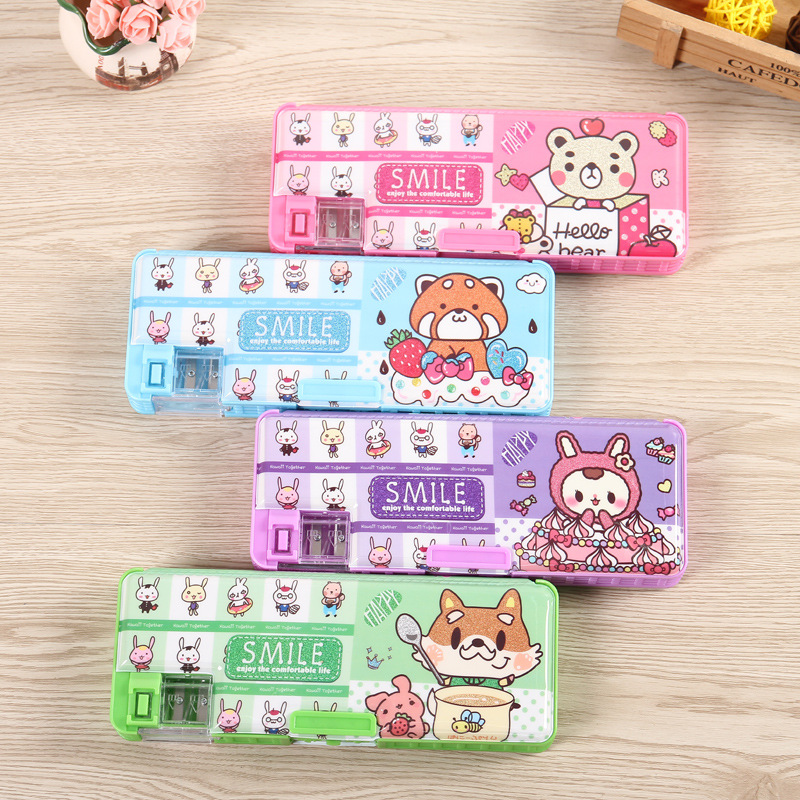 Creative multifunctional password pencil case  stationery Office and school supplies multifunction 21.5*7*3cm plastic pencil box