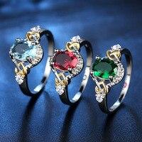 Посеребренные 925 ювелирные изделия обручальное кольцо для Для женщин Ясно Циркон Jewelry Кольцо для любовника или друга