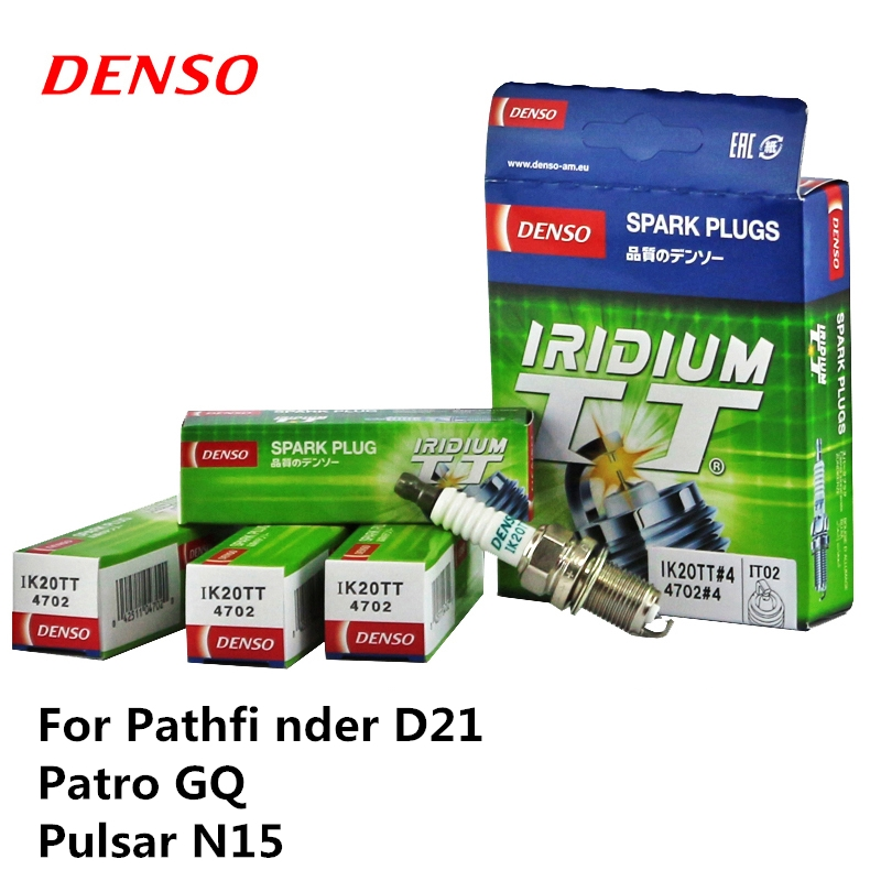 4pieces/set DENSO Car Spark Plug For Mitsubishi Pathfi nder D21 Patro GQ Pulsar N15 Iridium Platinum IK20TT